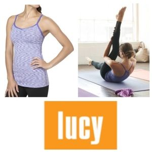 Lucy Green Yoga Tank with built in Bra